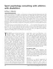 34. Sport psychology consulting with athletes with disabilities (2005), SEPR, 1, 33-39..pdf