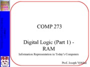 COMP 273 Lecture 3 - RAM (JV+MS)