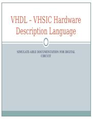 Lecture01_VHDL – VHSIC Hardware Description Language(2).ppt