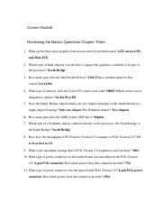 Reviewing the Basics Questions Chapter 3