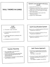 Skill Themes in Games