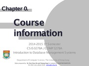 CSIS0278 Chapter0 Course Information