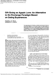MR (Week 3 Paper) - Belk and Coon (1993 JCR) - Gift Giving