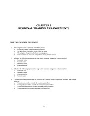 CHAPTER 8 REGIONAL TRADING ARRANGEMENTS
