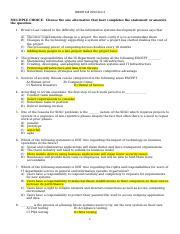 IDS 200 Exam 4 2014 Final with answers