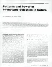 Kingsolver  Pfening 2007 - phenotypic selection.pdf