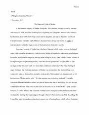 feminism in medea by euripides essay