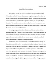 Ftv   Introduction To Film Aesthetics  Chapman University  Pages Annie Hall Vs Strictly Ballroom Health Is Wealth Essay also Compare And Contrast Essay Topics For High School  Health Issues Essay