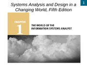 Chapter 1- The World of the Information Systems Analyst