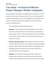 Assignment 1 Project Managent WEEK 1