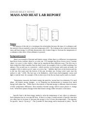 Mass and heat lab report.docx