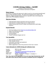 UTSA Advising Syllabus fall 07 (2)