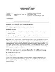 Assurance of Learning Instrument - LEB - Fall 2014