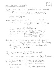 Lecture 22 on Surface Integrals