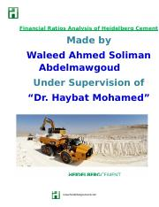 Ratio Analyses- Waleed Ahmed Soliman.docx