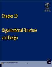 MGT200 Chapter 10  - Organizational Structure and Design - Eman.ppt