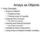 5.2 Arrays as Objects