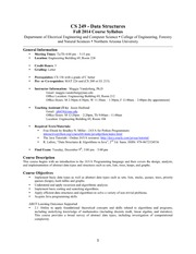 CS 249 Syllabus Fall 2014
