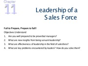 chapter 11 Leadership - Notes