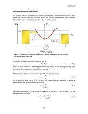 The quantum limit of conductance notes