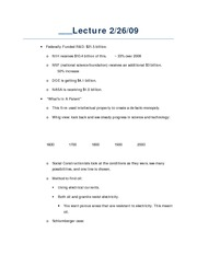 Lecture 2-26-09