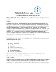 311 midterm Roberts & Son's Law ICW 3.docx