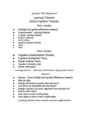 Lecture Outline Social Learning