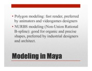 Poly Modeling