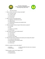 10315455-Atherosclerosis-Quiz-With-Answer-Key-and-Rationale
