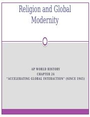 religion and global modernity #3