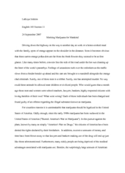 Community Based Writing Assignment