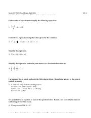UMUC MATH 009 Final Exam Questions and Answers