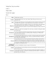 Telling Time 5 Day Lesson Plans