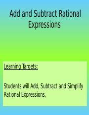 Adding & Subracting Rational Expressions (1).ppt