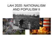 LESSON 19 - Nationalism and Populism II-OL