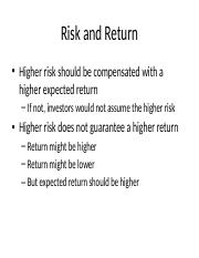 LECTURE 7 - Risk and Return.pptx