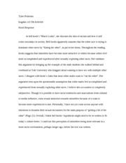 English - Tyler Pedersen hook response paper