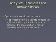 Clinical Chemistry 4 Analytical Techniques and Instrumentation