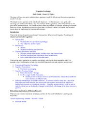 Cognitive Study Guide - Exam 1.docx