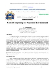 Cloud Computing for Academic Environment