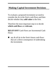 Chapter 10 - Making Capital Investment Decisions