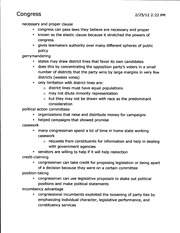 PSC 1002 Notes on Congress