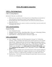 ENGL 100-Unit 1 Study Guide.docx