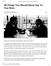 Article - 28 Things You Should Never Say to Your Boss.docx