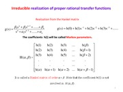 Lecture EE 550 22- 132 Realization from the Hankel matrix