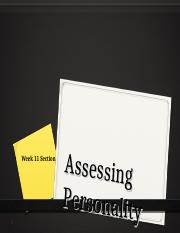Week 11 Section - Assessing Personality.ppt