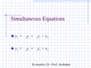 ch16Simultaneous Equations
