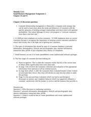 small business management assignment 2