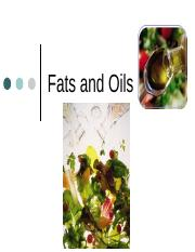 13 7-1 fats and oils