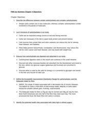 FNN 111 Nutrition Chapter 4 Objectives